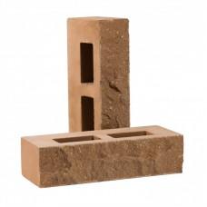 Кирпич облицовочный пустотелый колотый «Дикий камень» (КСПА)