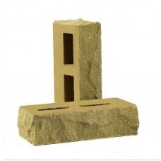 Кирпич облицовочный пустотелый колотый тычковый «Дикий камень» (КСПБ)