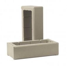 Элемент облицовочной опалубки для столбов забора «Т-блок» (ТБЛОК-С)