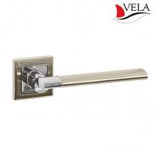 Ручки дверные Vela (Вела) Лигурия NIS/NI матовый никель / никель