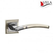 Ручки дверные Vela (Вела) Чезена NIS/NI матовый никель / никель