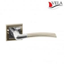Ручки дверные Vela (Вела) Чайф NIS/NI матовый никель / никель