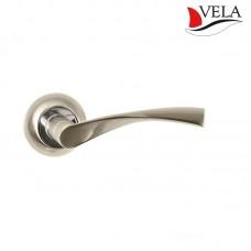 Ручки дверные Vela (Вела) Прима NIS/NI матовый никель / никель