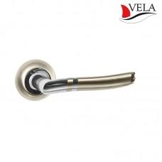 Ручки дверные Vela (Вела) Генуя NIS/NI матовый никель / никель