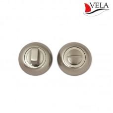 Фиксатор Vela WC-Round NIS/CR матовый никель/хром