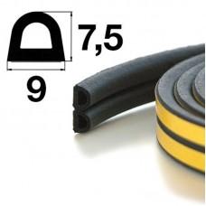 Уплотнитель самоклеящийся Apecs D-9*7,5-BL (700м)