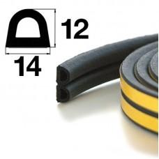 Уплотнитель самоклеящийся Apecs D-14*12-BL (40м)