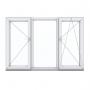 Купить трехстворчатое окно с одной поворотной и одной поворотно-откидной створками в Орше