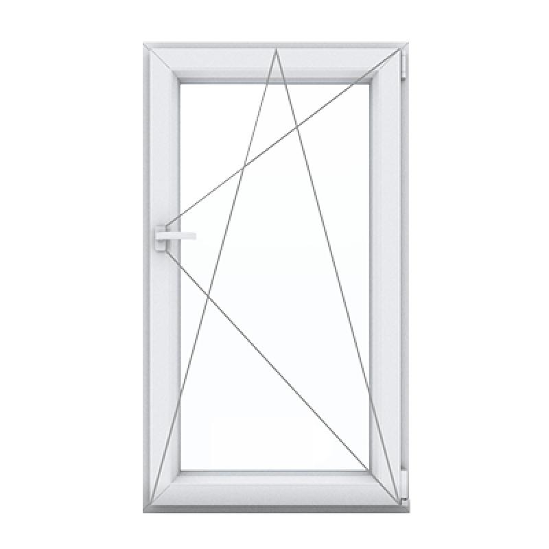 Купить одностворчатое окно с поворотно-откидной створкой правой в Орше