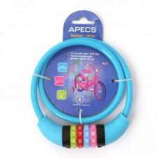 Замок велосипедный Apecs PD-85-65CM-CODE-BLUE